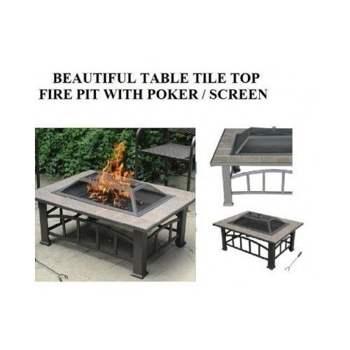 Fire Pits Outdoor Fireplace Patio Backyard Garden Table Ceramic Heater New