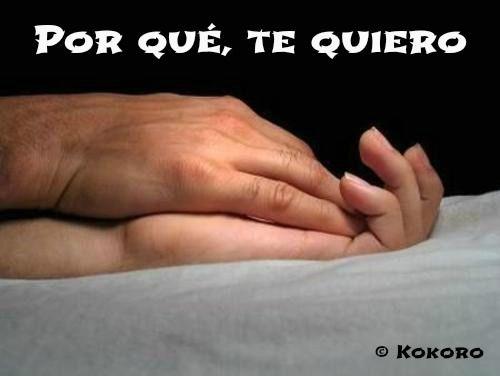 Por qué, te quiero...de Francisco Pelufo @KOKOROALMA en DEL CORAZÓN A LA MENTE http://esveritate-laverdad.blogspot.com.es/2014/03/por-que-te-quiero.html