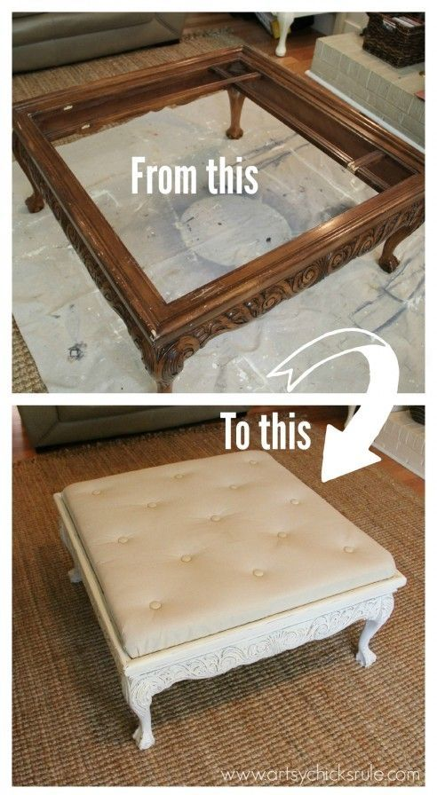 Donu0027t Throw Away Your Old Furniture   29 Upcycled Furniture Projects Youu0027ll  Love! Decorating Coffee TablesThrift Store FurnitureRepurposed ...