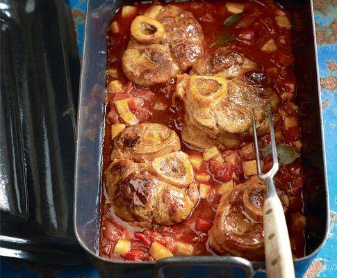 Kalbshaxe mit Tomaten