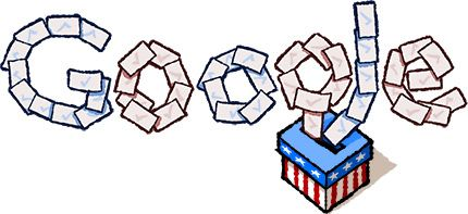 Get out and vote because today is election day! If you are not sure where to go, click on the Google doodle on the Google homepage and it will tell you the closest place to submit your ballot.  Election 2012.  http://golfgator.com/