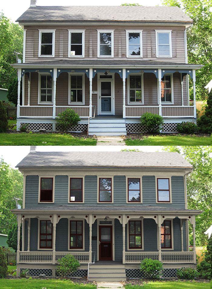 Blue Farmhouse With New Paint Colors House Colorsold