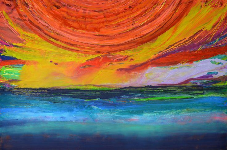 Sunset Sea 150x100cm