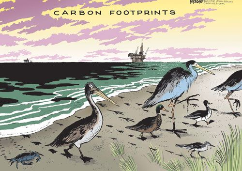 Environment Cartoons: Carbon Footprints