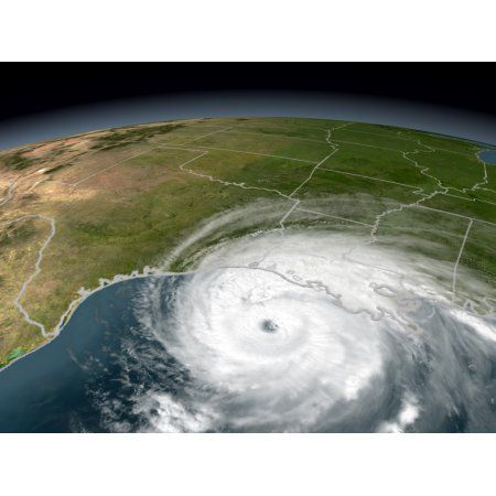 Hurricane Rita Canvas Art - Stocktrek Images (32 x 24)