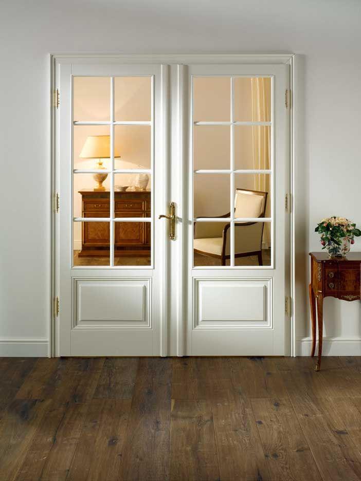 Bellevue Schleiflack Weiß Doppeltür Mit Großzügigem