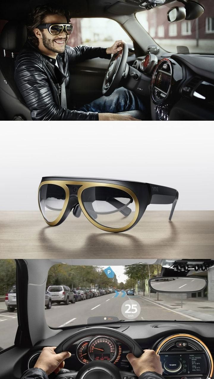 BMW's augmented reality glasses prototype enables motorists to see navigation…