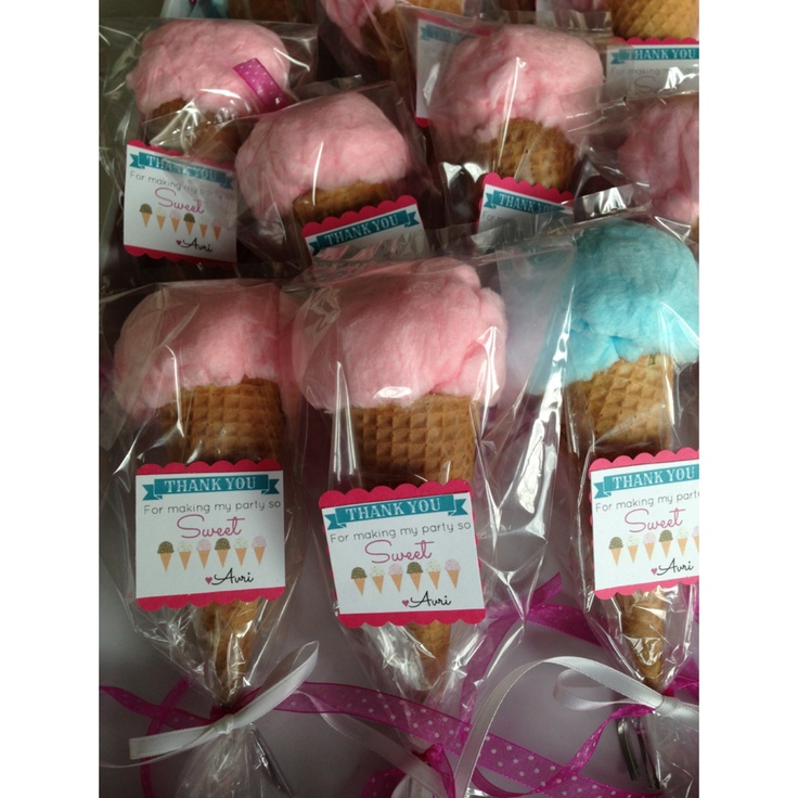 Cotton Candy Cones: Ice Cream Party favors