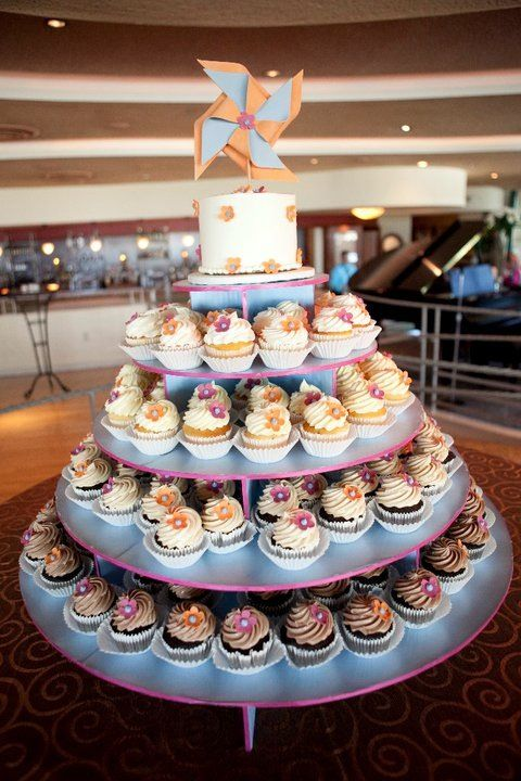 wedding cupcake tower #whimsical