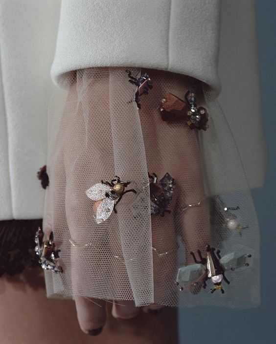 Dior haute couture with bees, Spring/Summer 2016, by Serge Ruffieux & Lucie Meyer.