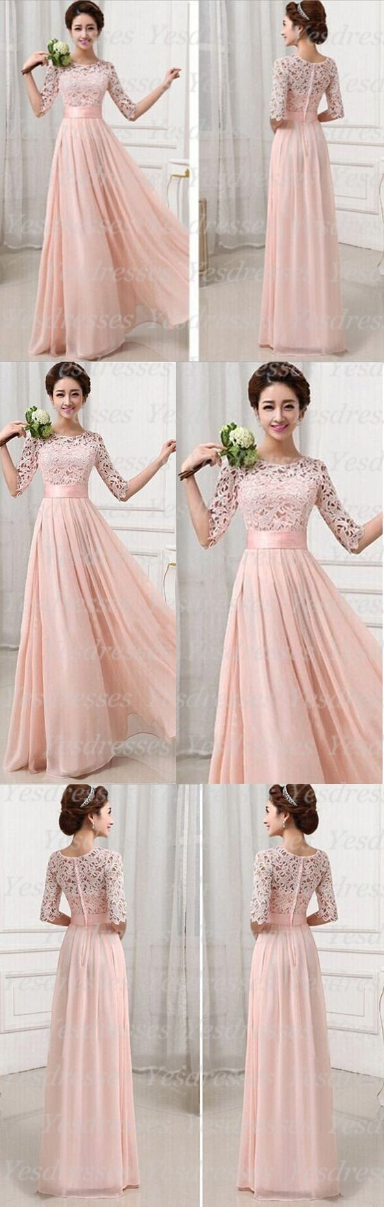 Wow, beautiful dress! #promdress #bridesmaiddress #partydress #dress #lacedress #longbridesmaiddresses #longdress #blushpink