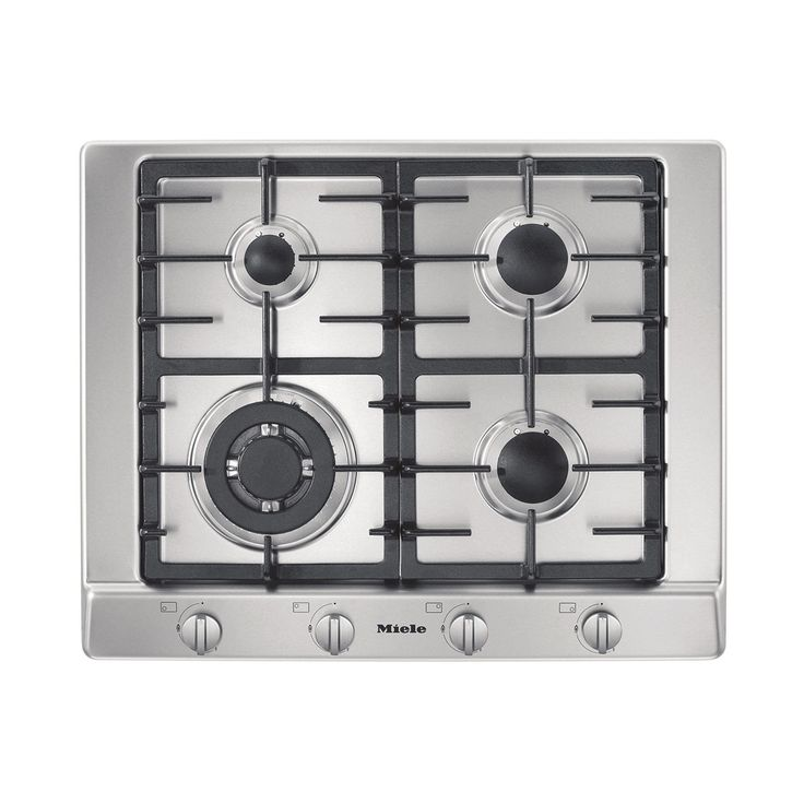 65 cm wide, 4 burners including wok burner, stainless steel