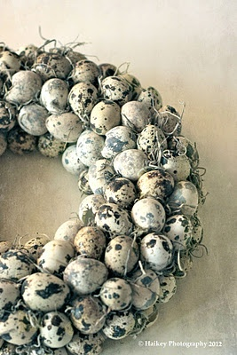 natural egg wreath