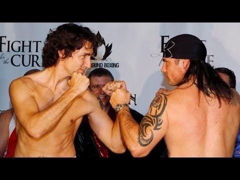 In Canada , the Prime Minister & Senators duke it out in the ring - ( for…