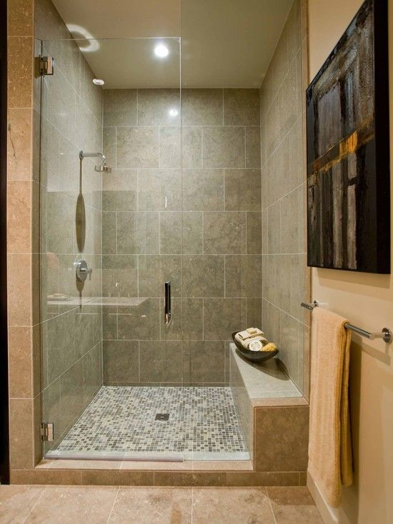 Bathroom shower bench design basement ideas pinterest for Basement bathroom tile ideas