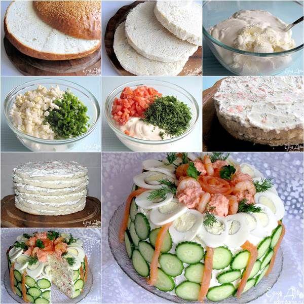 How to DIY Delicious Scandinavian Sandwich Cake | iCreativeIdeas.com Like Us on Facebook ==> https://www.facebook.com/icreativeideas