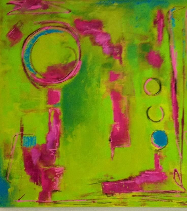 "Pink Lemonade"" Mix on canvas"