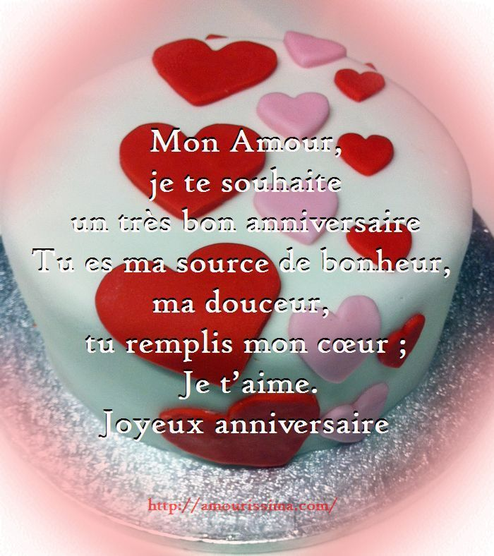 Voeux Damour Pour Anniversaire Coeur Message