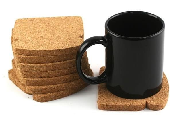 fai da te creativo sottobicchieri di sughero stile fetta biscottata