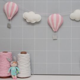 Slinger luchtballonnen lichtroze-wit | HANGERS EN SLINGERS | Kidsware