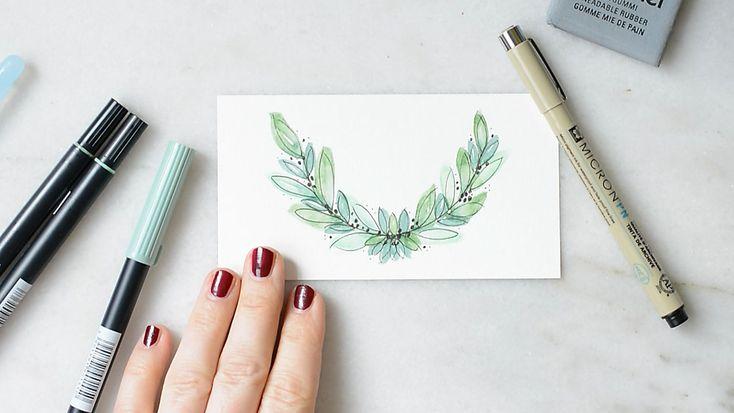watercolorblaetterleavesmakingof  einfache