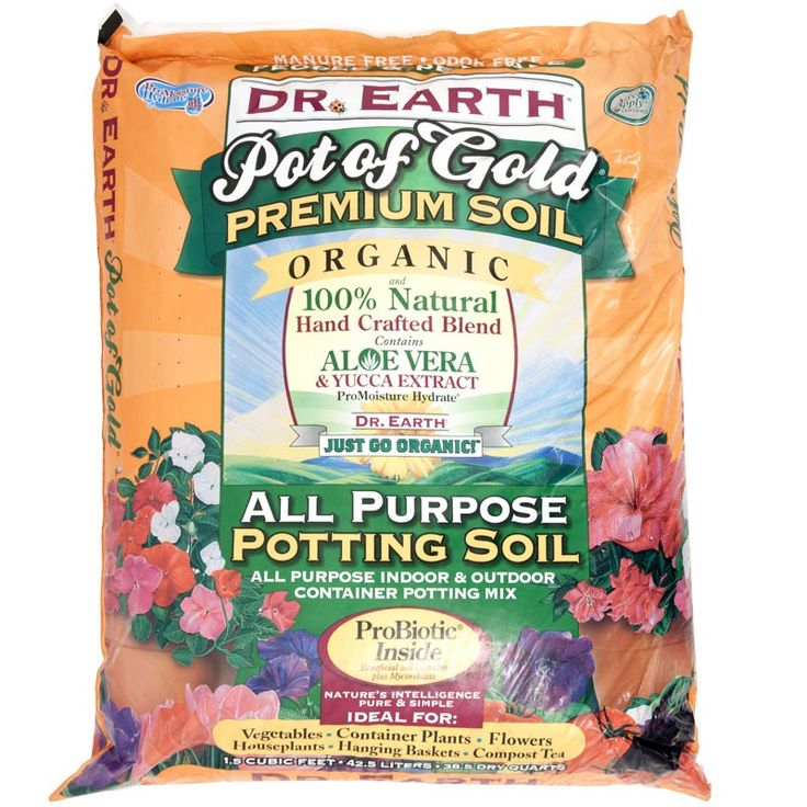 Dr. Earth Pot Of Gold Potting Mix   Expensive But It Has Everything In It