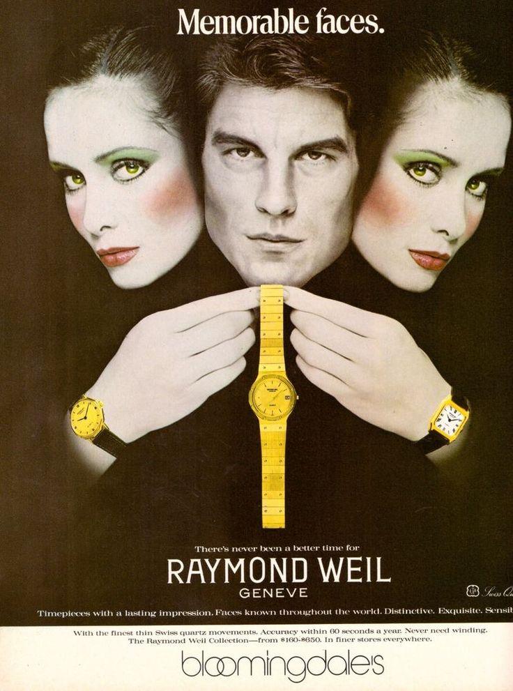 1980 Raymond Weil Jewelry Watch Bloomingdales Print Ad Vintage Advertisement 80s | eBay