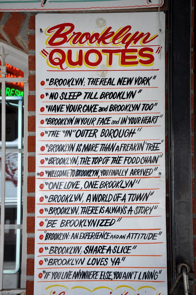 "Brooklyn ""Quotes"", a totally new experience I know it. I'm a proud Brooklynite. See ya"