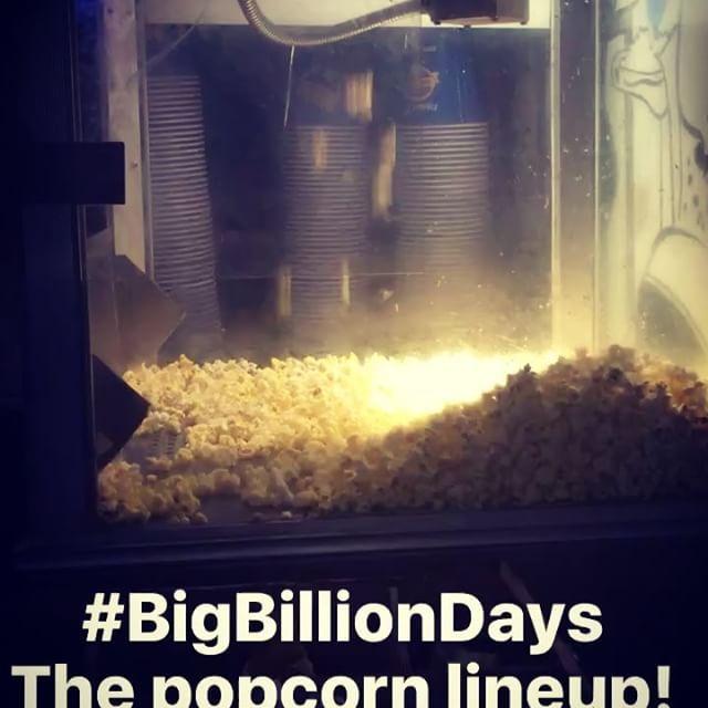 How do you celebrate the biggest sale in India? With 🍿 popcorn, of course! #bigbilliondays #flipkart #startup #startuplife #itnemeinitnaaaamilega #sale #india #shopping #popcorn @flipkart