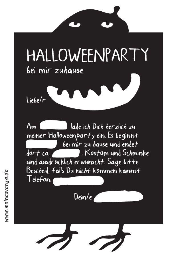 Halloween Einladung Kostenlos Auf Www.meinesvenja.de   Free Download    Halloween Printable.