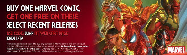 Marvel Digital Comics Start A Buy One Get One Free Offer