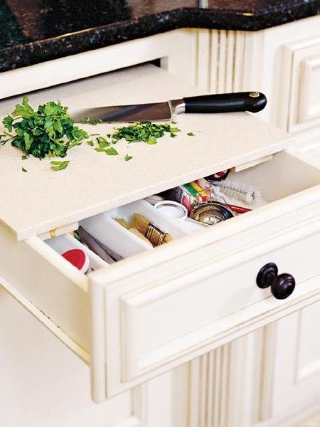 Hidden cutting board organization pinterest for Best home decor pinterest boards