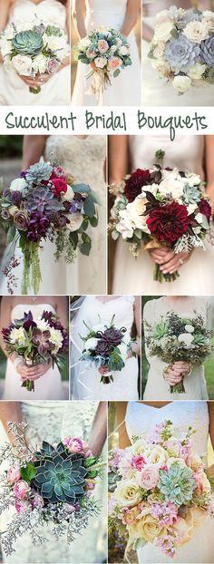 creative and unique succulent bridal boquuets ideas