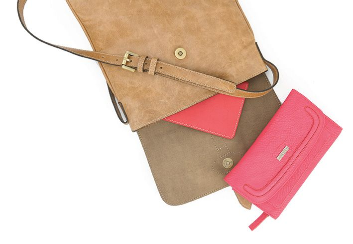 Leather cross body and wallet from Mat & May