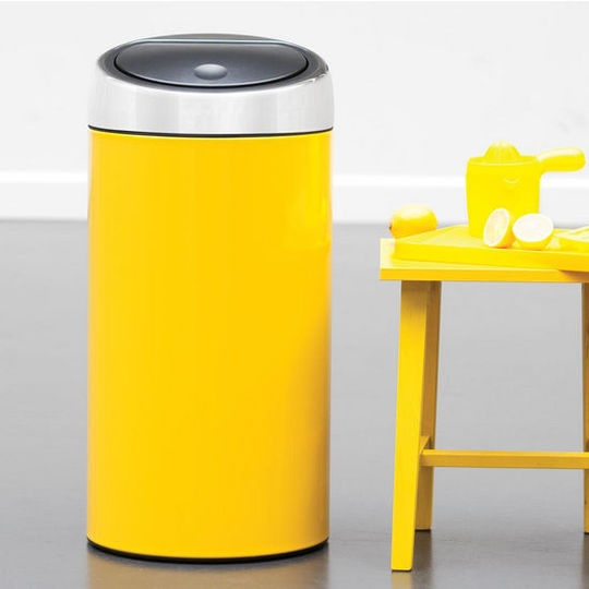 Beyond Stainless Steel: Colorful Kitchen Trash Cans from Brabantia