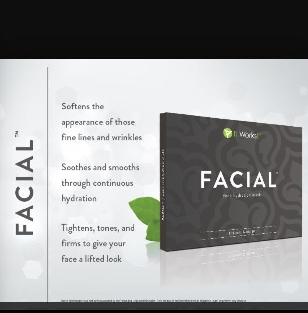 NEW It Works Facial Applicator (1) Face Wrap Mask Deep Hydration & Firming #ItWorks