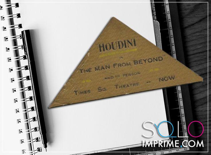 Tarjeta de Presentación, Originales, famosos, Business Card, Harry Houdini