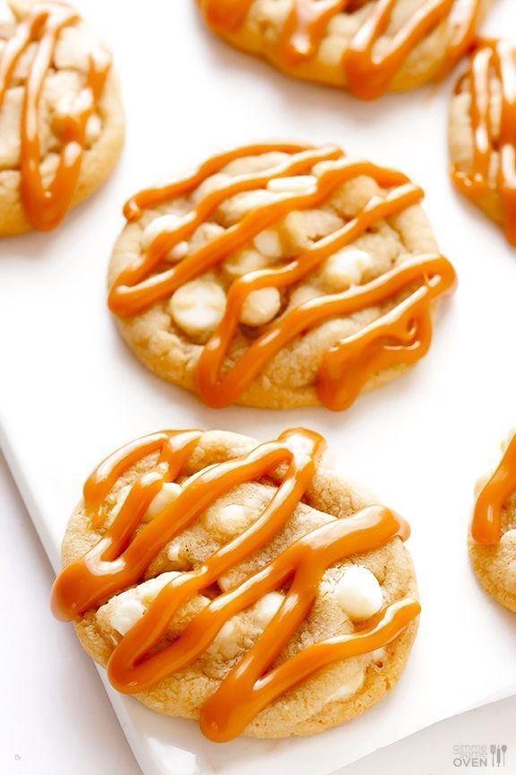 caramel white chocolate cookies