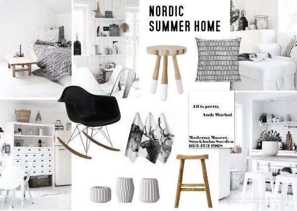 Nordic Summer Home Interior Moodboard Created On Sampleboard