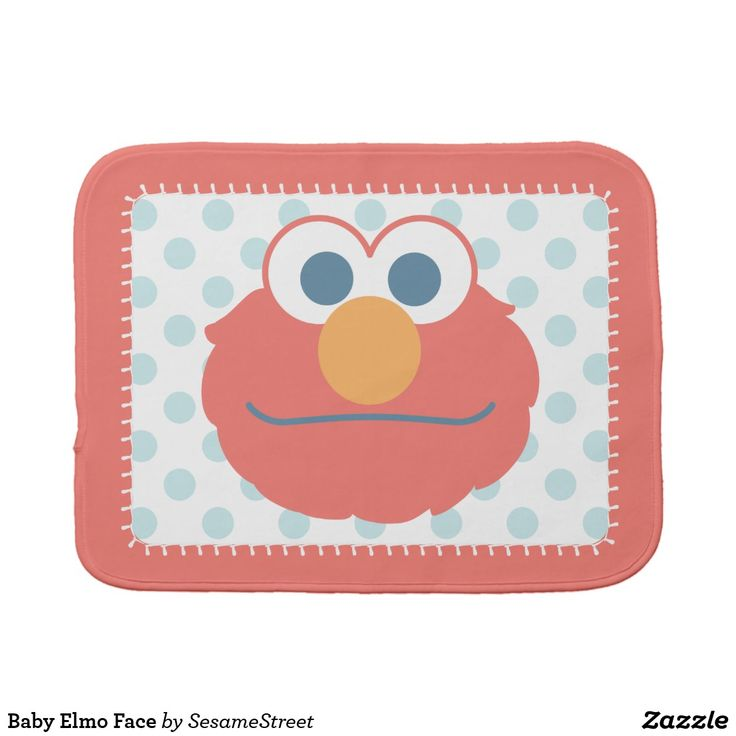 Baby Elmo Face Burp Cloth