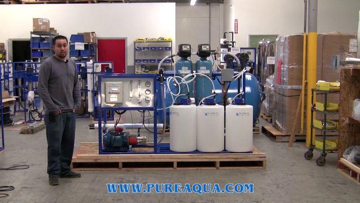 Sistema Ósmosis Inversa para Agua de Mar Montado en Plataforma 380 GPD - Méjico