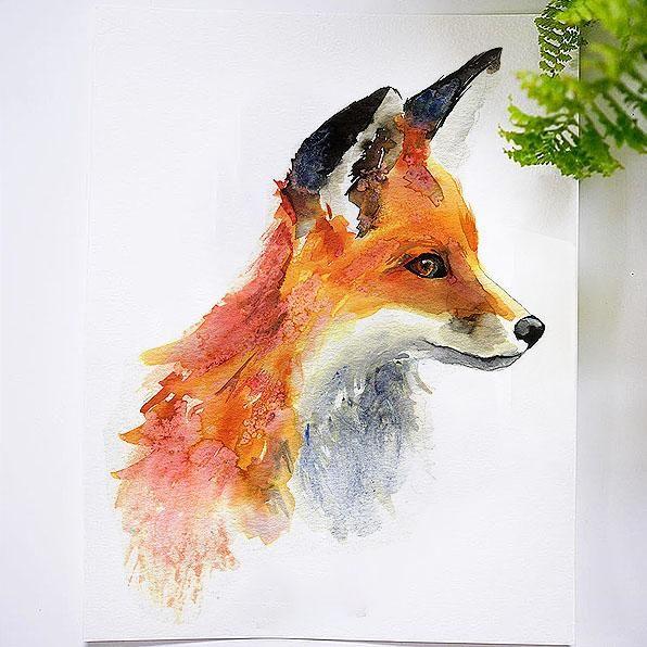 Foxy Fox Watercolor Kit Watercolor Fox Let S Make Art Fox Painting