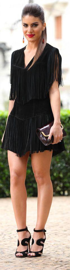 <3 Vestido: Pat Pats / Sandalia: Alaia / Brinco e Anel: Carla Amorim / Bolsa: Louis Vuitton #black #sexy