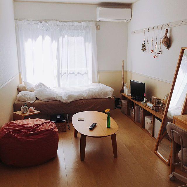 6畳 8畳でも快適 小スペースを充実させたお部屋アイデア 8畳 インテリア インテリア 1人部屋 部屋 レイアウト