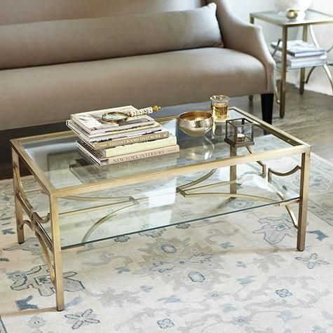 Tables - Legs and lower shelf are supported with airy arched stretchers that add graceful contrast to the substantial linear frame.