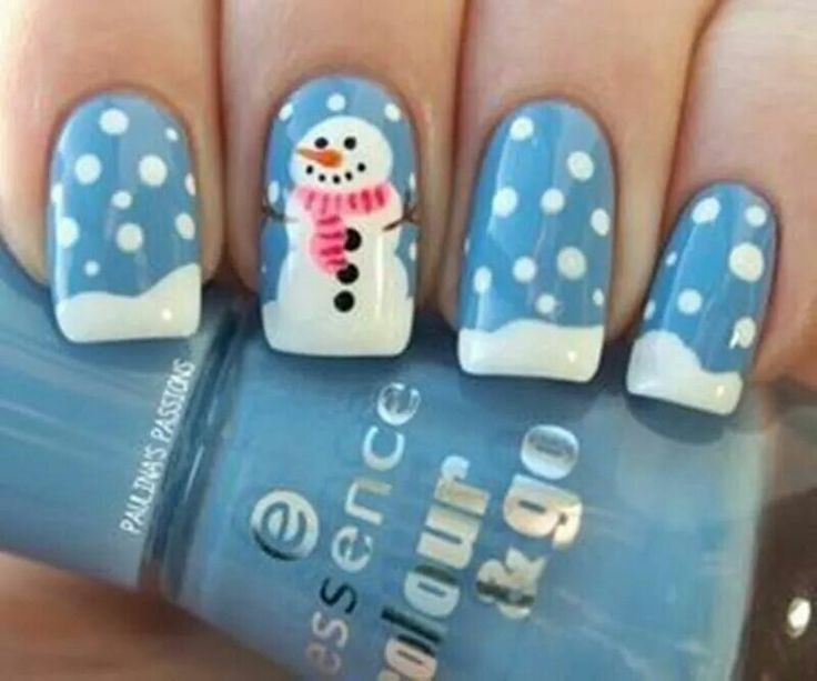 Snow man ready for winter