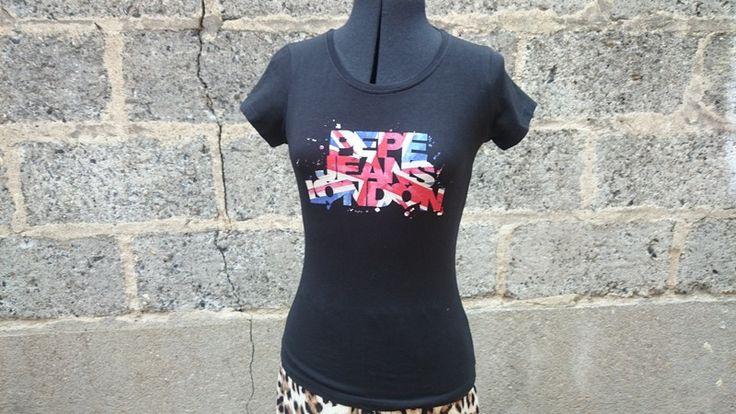 Tee-shirt Pepe Jeans noir imprimé - vinted.fr