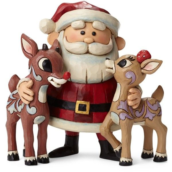 Jim Shore Santa Hugging Rudolph & Clarice Collectible Figurine ($49) ❤ liked on Polyvore featuring home, home decor, holiday decorations, christmas, no color, santa figure, rudolph figurines, christmas holiday decor, jim shore figurines and jim shore