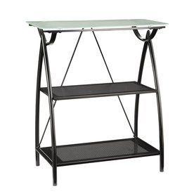 Office Star Newport Black Metal 2-Shelf Bookcase