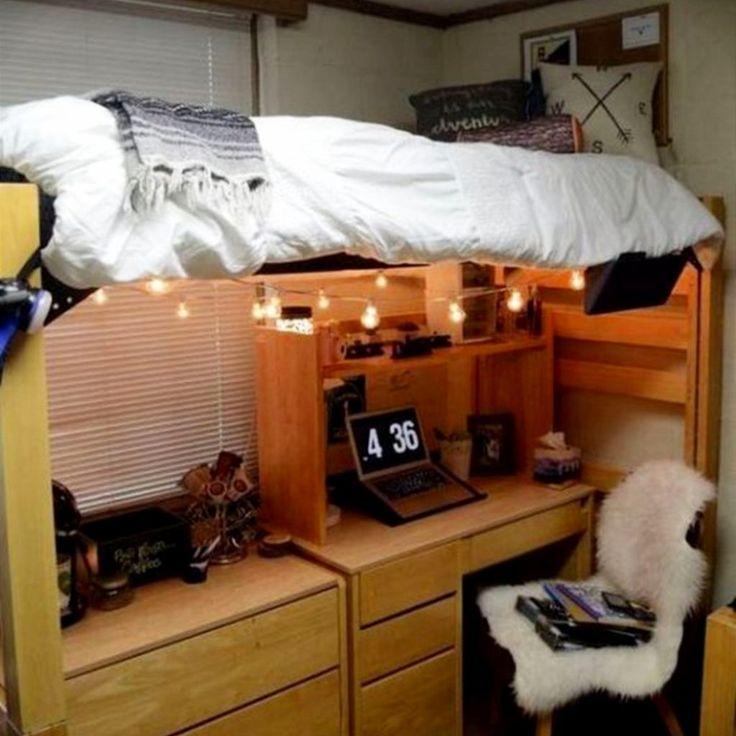 Dorm room ideas for college freshmen girls #dormroomideas #gettingorganized #goals #dormroomhacks #ideasfordormroom